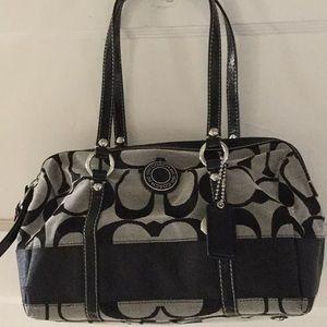 Over the shoulder coach purse